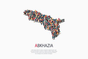 People map country Abkhazia