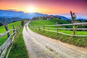 Stunning rural landscape,Romania