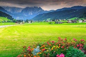 Stunning summer alpine landscape