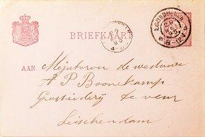 Vintage postcard of 1895