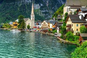 Wonderful alpine village in Austria