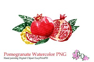 Pomegranate Fruit Clipart PNG