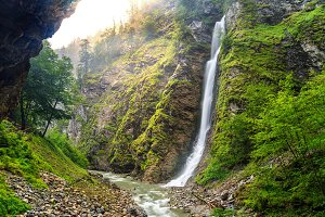 Gorge Liechteinsteinklamm in Austria