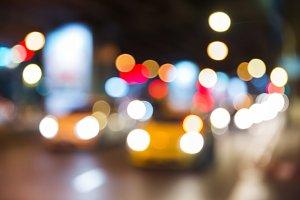 car and street light bokeh