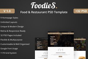 Foodies-Food&Restaurant PSD Template