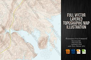 Vector Coastal Topographic Maps