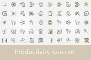 Productivity icons set