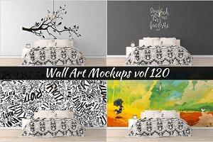 Wall Mockup - Sticker Mockup Vol 120