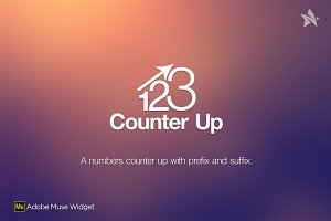 Counter Up - Adobe Muse Widget