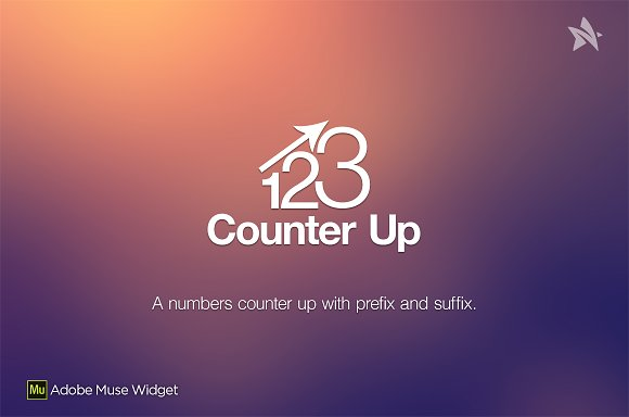 Counter Up Adobe Muse Widget