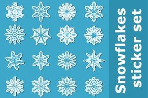 Snowflakes sticker set + BONUS