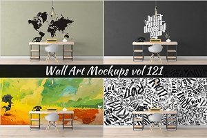 Wall Mockup - Sticker Mockup Vol 121