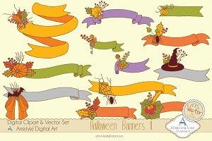 Halloween Banners II. Clipart&Vector