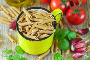 Pasta from whole wheat flour
