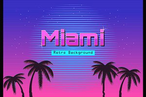 80s Retro Neon gradient background.
