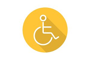 Wheelchair icon. Vector