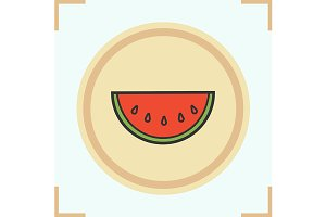 Watermelon color icon. Vector
