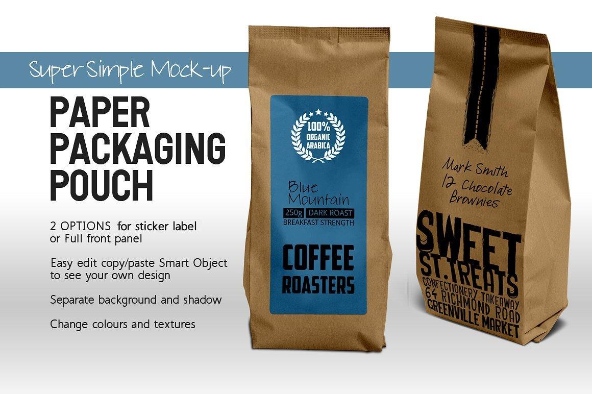 paper bag packaging mock up product mockups creative market. Black Bedroom Furniture Sets. Home Design Ideas
