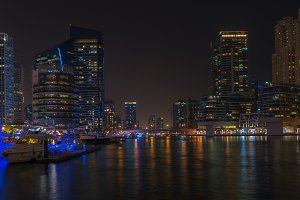 Night view of Dubai Marina