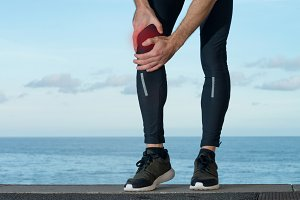 Pain in knee injury of sportsman
