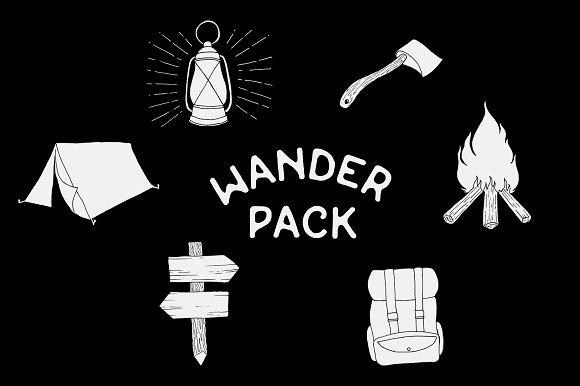 Camping / Hiking Vector Bundle