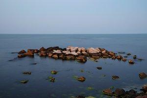 Evening calm sea