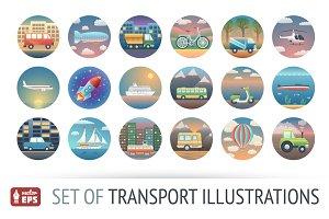 Set of HQ Transport Illustrations