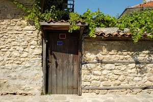 Door in town of Nessebar, Bulgaria