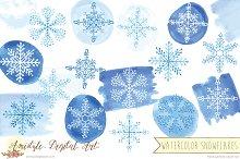 Watercolor Snowflakes