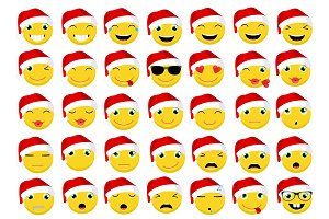 Christmas Emoticons / Emoji