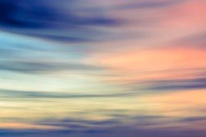 Blurred colorful dark sunset sky