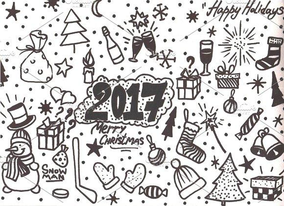 Cute Christmas Cards Hand Drawn