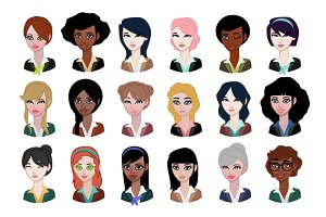 18 Girls avatars