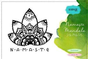 Namaste Lotus Mandala SVG