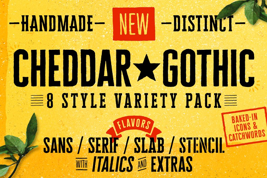 Cheddar Gothic Font Family ~ Display Fonts ~ Creative Market