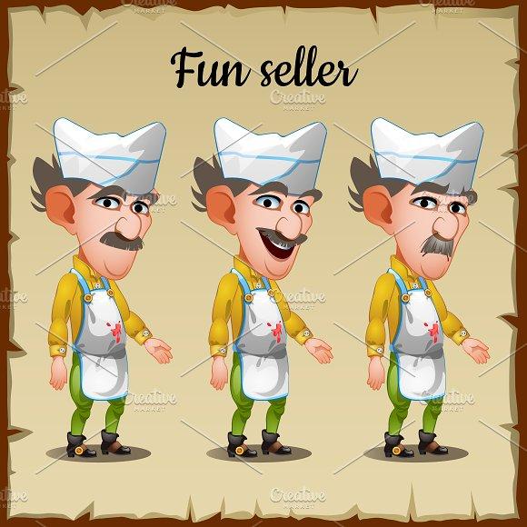 Three Emotions An Elderly Man Seller