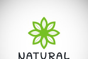 Natural product icon design template