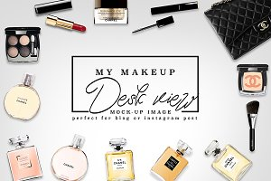 Luxury Brand Makeup Desk Mockup