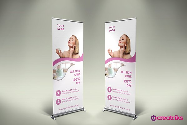 Skin Care Roll Up Banner Creative Photoshop Templates Creative Market