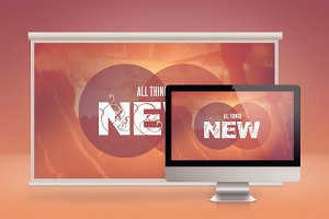 All Things New Church Slide PSD