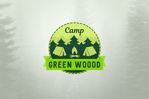 Camp in Forest Logo