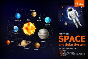 Space and Solar System Set
