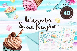 Watercolor Sweet Kingdom