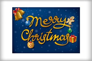 Merry Christmas Celebration Cards