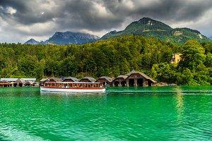 Passenger boat on the lake