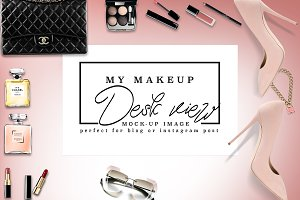 Luxury Brand Makeup Desk Post Mockup