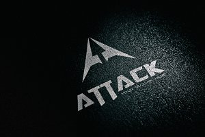 Attack Game Letter A Logo