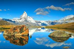 Switzerland landscape and Matterhorn