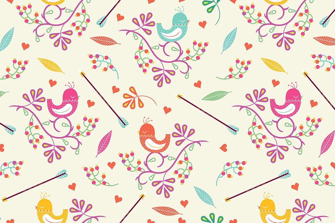 Seamless Colorful Floral Pattern Graphic Patterns Creative Market