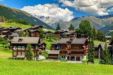 Traditional alpine village